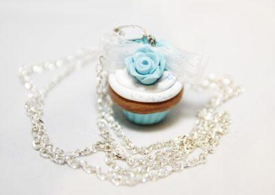 Sautoir Cupcake à la menthe glaciale