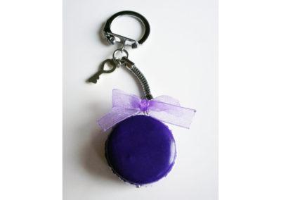 Porte-clés Macaron à la violette
