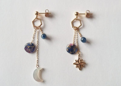 Boucles galaxy plaqué or