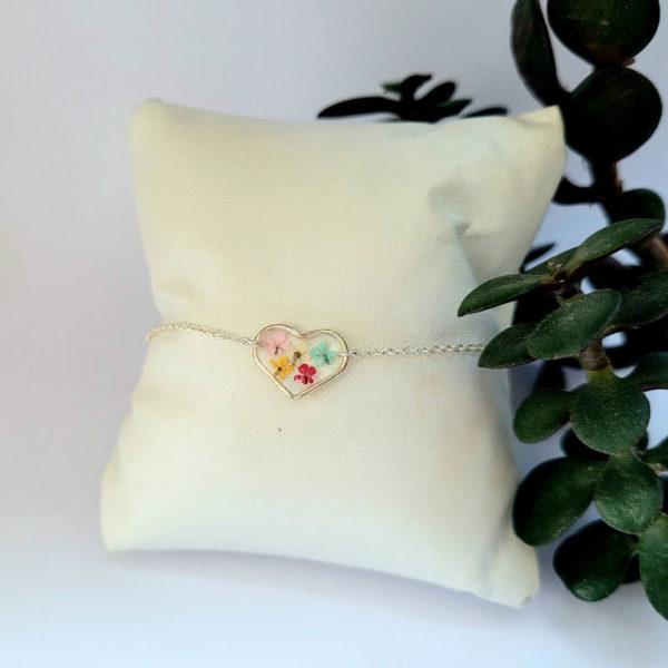 Bracelet argent 925 médaillon coeur ammi majus